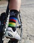 Chaussettes de sport unisexes noires Santini - Kom op tegen Kanker - Kom op tegen Kanker