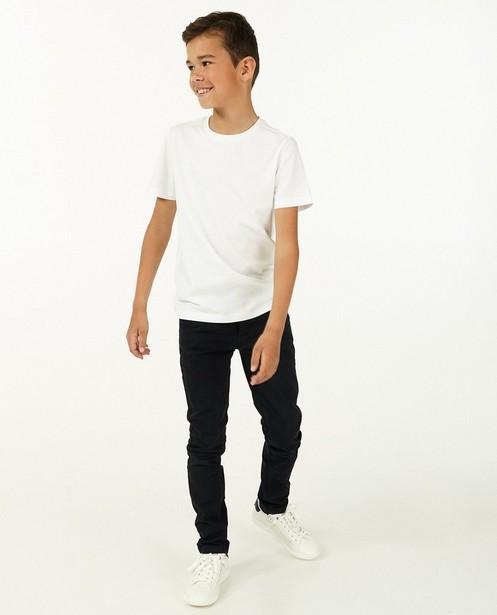 T-shirt blanc en coton bio - avec du stretch - Fish & Chips