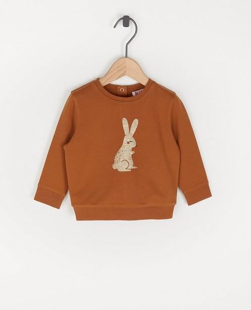 Bruine sweater met glitter BESTies - dierenprint - Besties
