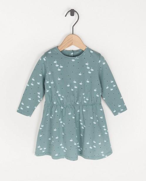 Blauwe jurk met print BESTies - allover - Besties