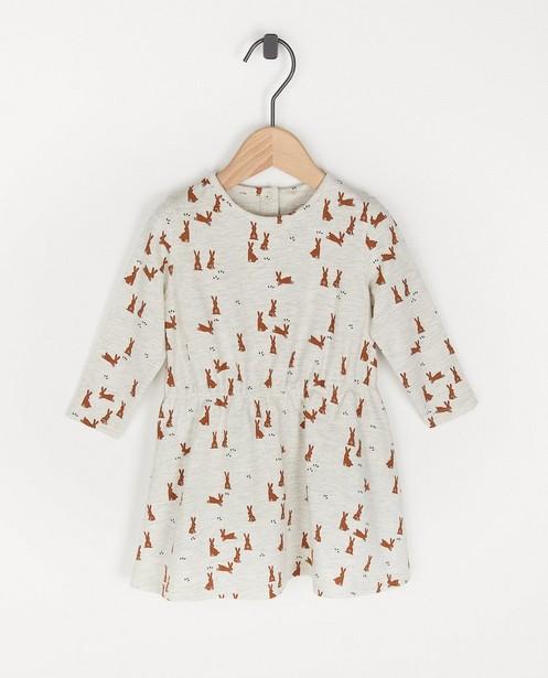 Beige jurk met print BESTies - allover - Besties