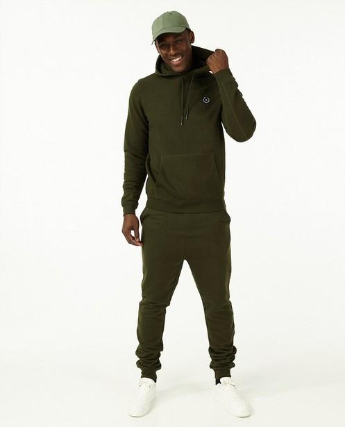 Donkergroene hoodie - met fleece - Quarterback