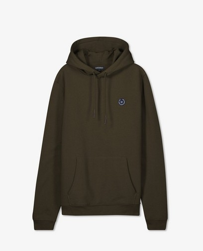 Donkergroene hoodie