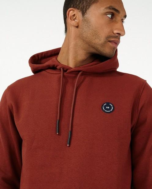 Donkeroranje hoodie - met fleece - Quarterback