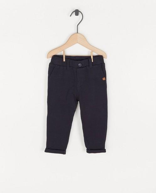 Blauwe broek met wafelpatroon Feest - premium - Cuddles and Smiles