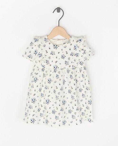 Witte jurk met bloemenprint Feest - premium - Cuddles and Smiles