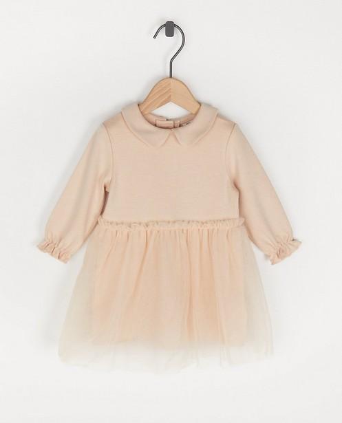 Lichtroze jurk met tule Feest - premium - Cuddles and Smiles