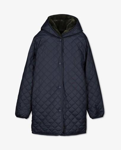 Donkerblauwe jas met reliëf