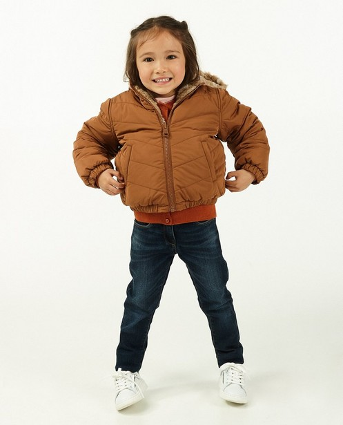Veste réversible avec peluche beige - et brune - Milla Star