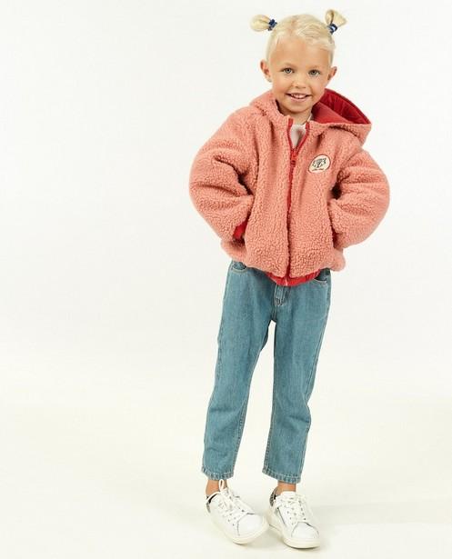 Veste réversible, peluche rose - avec du stretch - Milla Star