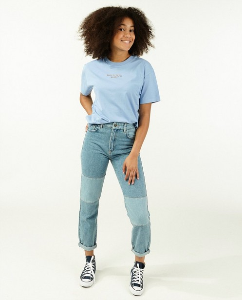 T-shirt en coton bio à inscription - bleu - Groggy