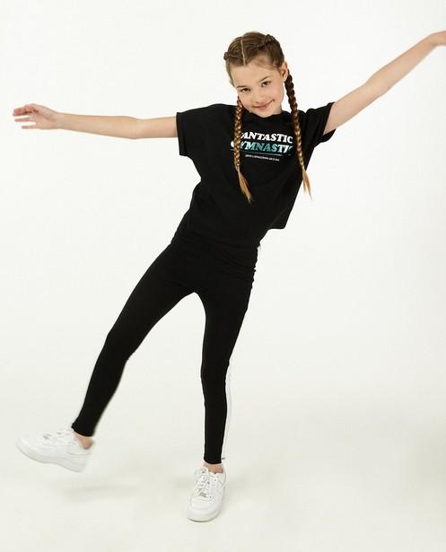 Zwarte legging met streep BESTies - van jersey katoen - Besties