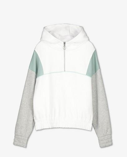 Witte sweater met capuchon