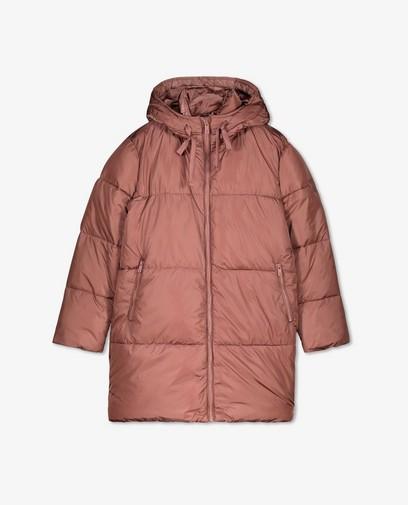 Donkerroze puffer jacket Sora