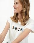 T-shirts - Biokatoenen T-shirt met borduursel