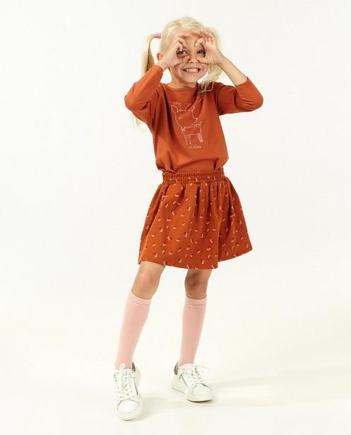 Oranje rokje met print BESTies - stretch - Besties