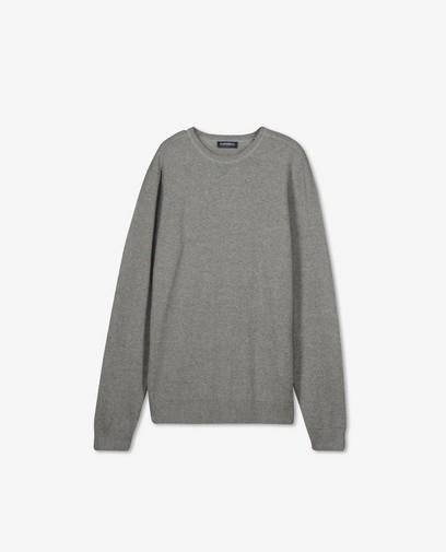 Gemêleerde grijze trui