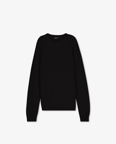 Pull noir à motif tricoté