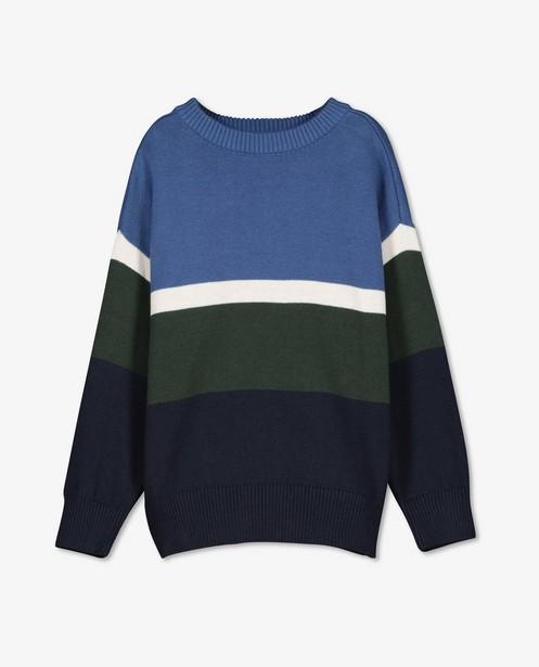 Biokatoenen sweater Hampton Bays - met color block - Hampton Bays
