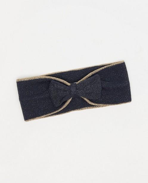 Donkerblauwe haarband met strik Feest - premium - Cuddles and Smiles