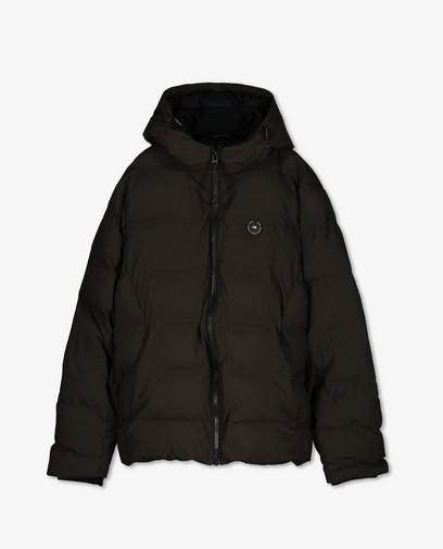 Donkergroene puffer jacket