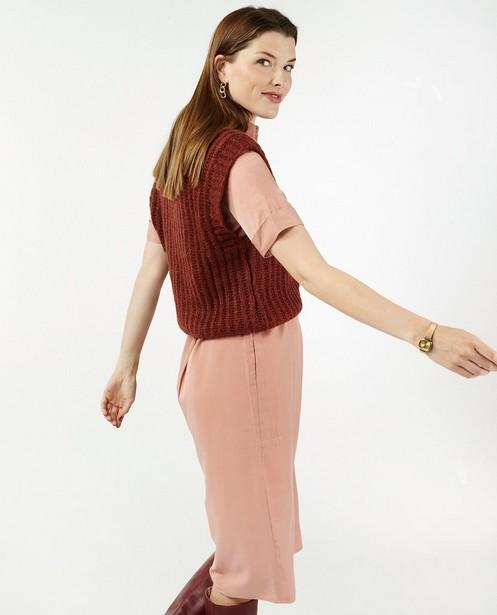 Débardeur brun rouge Sora - avec col en V - Sora