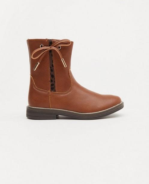 Bruine laarzen, maat 28-32 - met strikje - Milla Star