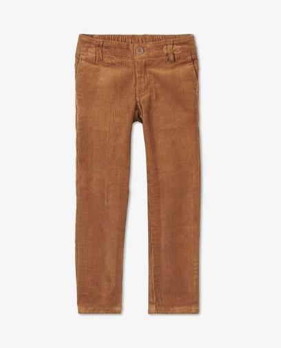 Pantalon brun à carreaux Samson
