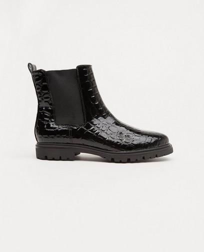 Zwarte laarzen met lak, maat 36-41