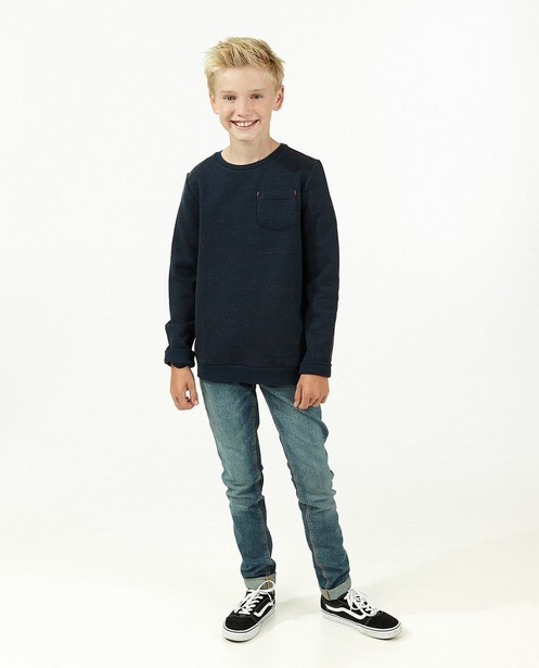 Gemêleerde blauwe sweater - Gemêleerde blauwe sweater - Fish & Chips