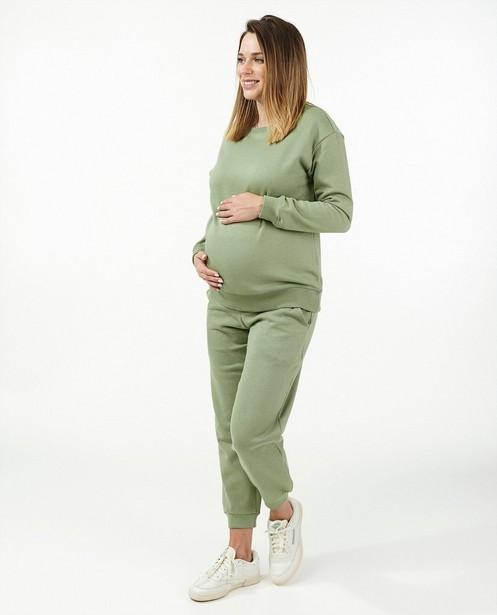Groene sweater JoliRonde - zwangerschap - Joli Ronde