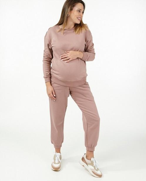 Roze sweater JoliRonde - zwangerschap - Joli Ronde