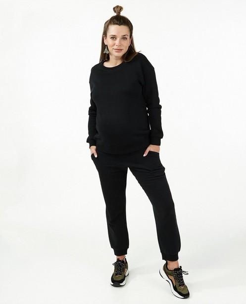 Zwarte sweater JoliRonde - zwangerschap - Joli Ronde