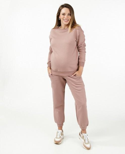 Roze jogger JoliRonde - zwangerschap - Joli Ronde
