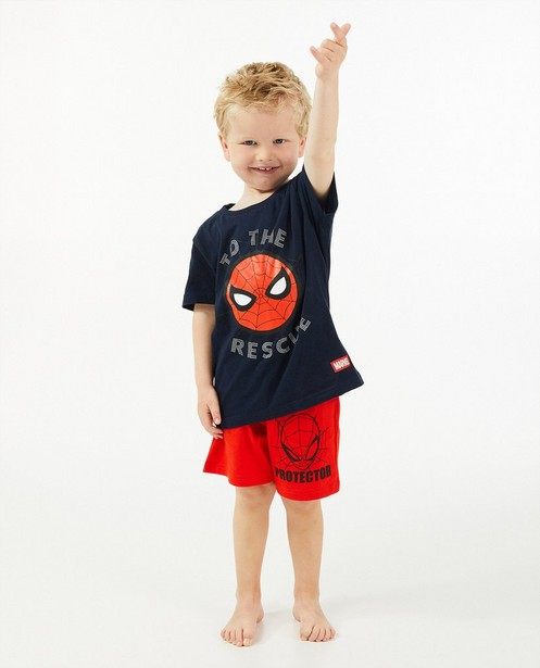 Blauwe Spiderman-pyjama Marvel - met print - JBC