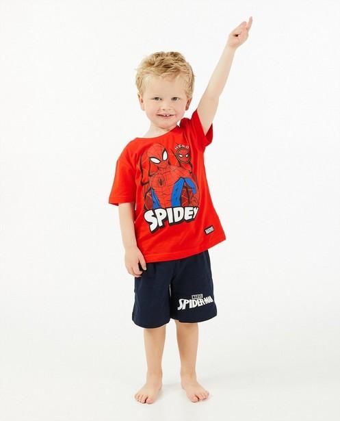 Rode Spiderman-pyjama Marvel - met print - JBC