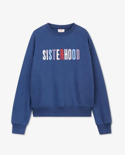 Blauwe sweater Nour en Fatma