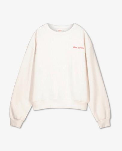 Sweater met opschrift Nour en Fatma