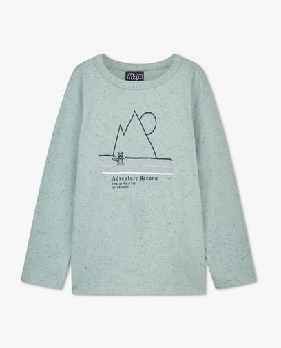 T-shirt à manches longues en coton bio à imprimé Maya
