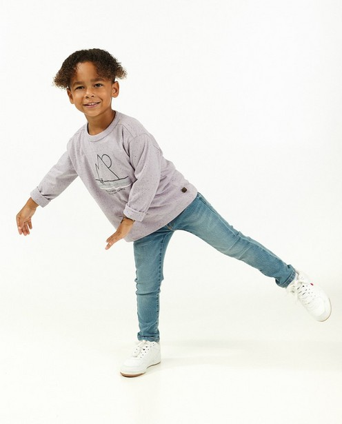 T-shirt à manches longues en coton bio à imprimé Maya - lilas - Maya