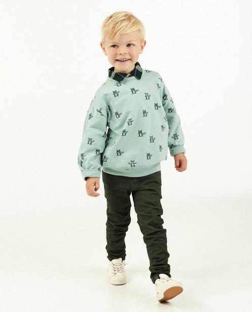 Lichtblauwe sweater met print Maya - allover - Maya