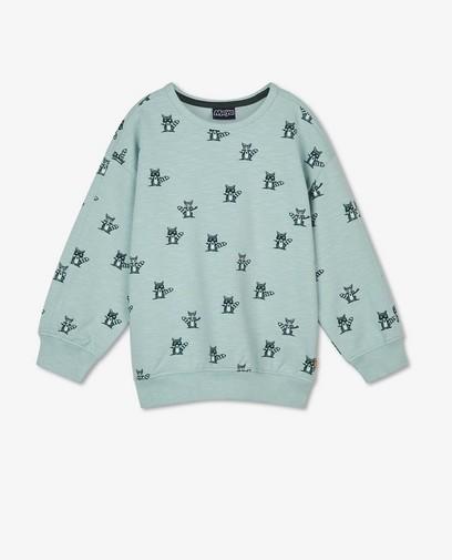 Lichtblauwe sweater met print Maya