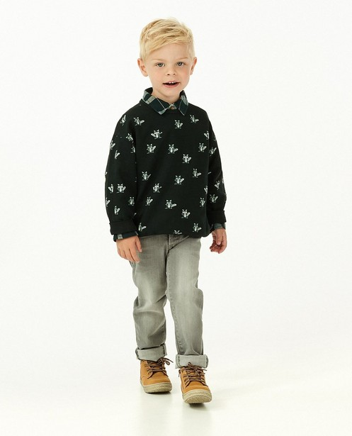 Donkergroene sweater met print Maya - allover - Maya