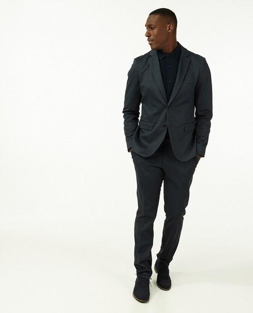 Pantalon de costume bleu à micro-imprimé - imprimé intégral - Iveo
