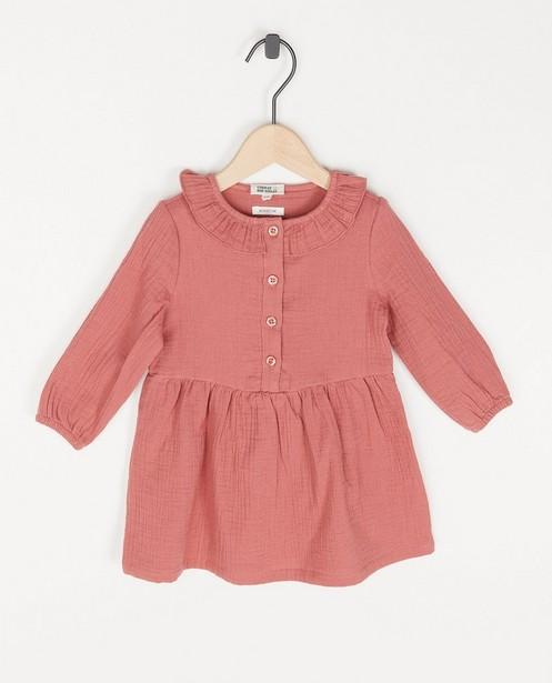 Donkerroze jurk van tetra - Donkerroze jurk van tetra - Cuddles and Smiles