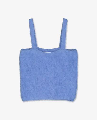 Blauwe fuzzy top Steffi Mercie