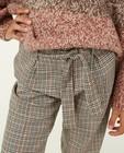 Pantalons - Pantalon beige à carreaux