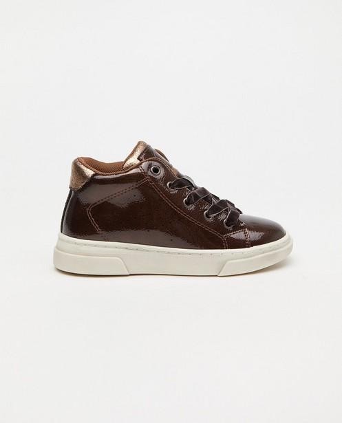 Bruine sneakers Sprox, maat 27-32 - met lak afwerking - Sprox