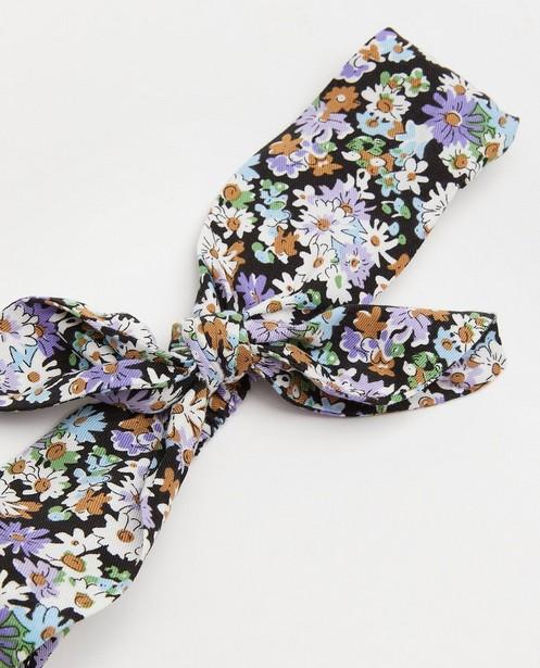 Bonneterie - Bandeau bleu à imprimé fleuri Maya