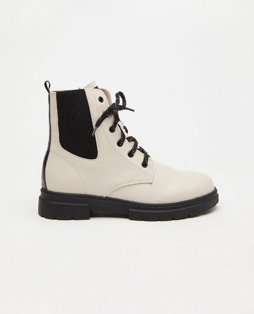 Witte laarzen Sprox, maat 33-38 - met rits - Sprox